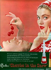 Revlon Cherries in the Snow vintage ad